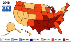 CDC U.S. obesity chart 2010